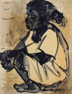Romeo Tabuena Niña sentada 1956