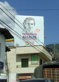 Valla Federico Gutierrez en la Calle 10