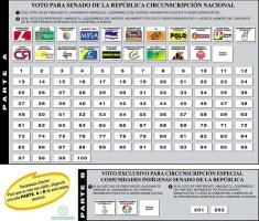 Tarjetón Senado Colombia