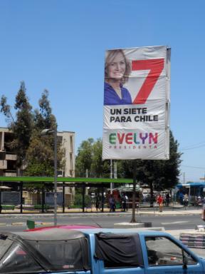 Valla campaña Evelyn Matthei 2013