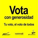 Vota con generosidad