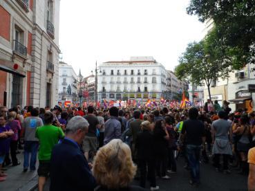Hasta las 9 de la noche se unieron manifestantes en la Puerta del Sol