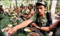 Comedor guerrillero en Colombia