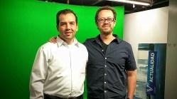 El autor del libro con el director de GaleriaPolitica.com
