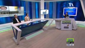 Sergio Iván Soto, Carlos Andrés Naranjo Sierra y Felipe Aramburo, en la transmisión del análisis de la segunda vuelta presidencial en Colombia.