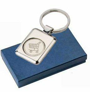 porte clés jeton de caddie en idée cadeau entreprise