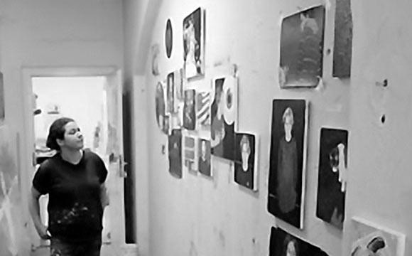 Ausstellende Knstler Nadine Wlk  Galerie Grafikladen  Projektraum am Weien Hirsch
