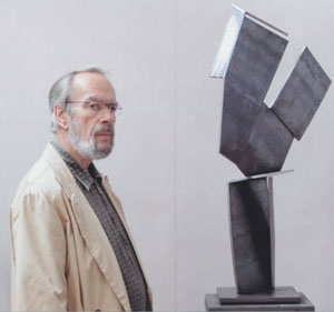 Hand-Kopf BR, Stahl, H 48,4 cm, 1998