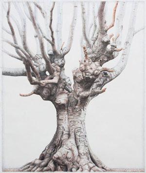Der König, 2009, Bleistift, Farbstift, 120 x 100 cm