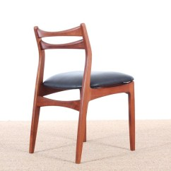 Erik Buck Chairs Sure Fit Slipcover Chair Mid Century Modern Danish Set Of 6 By Galerie Mobler