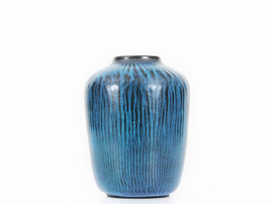 Mid Century Modern Turquoise Vase Model 5078 By Gunnar
