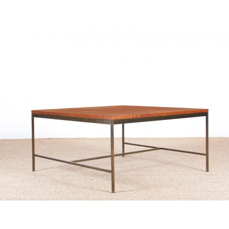 mid century modern square coffee table