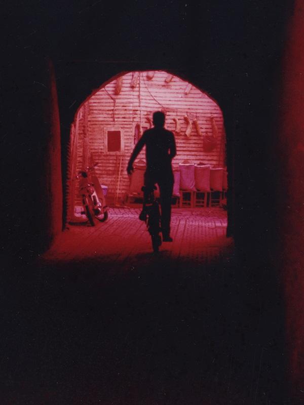 Le cycliste - 9 x 12 cm