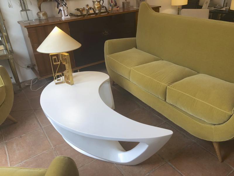 boomerang shaped organic coffee table