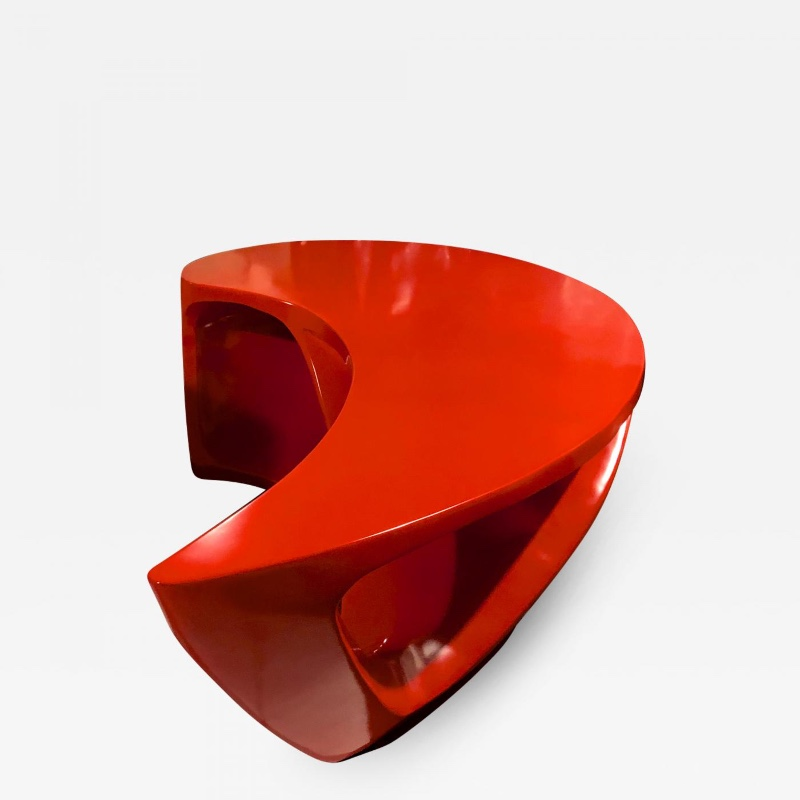 boomerang shaped red abstract coffee