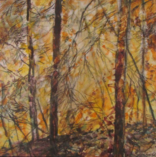 Lumière du Soir, peinture de Simon C.