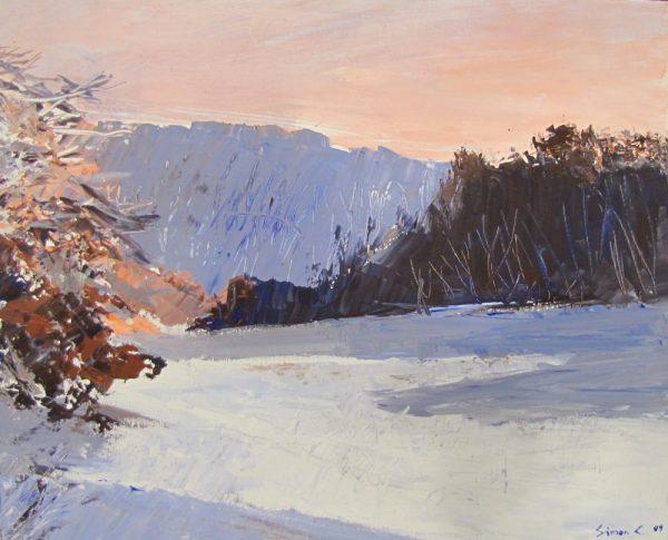 Hiver au Grand-Terne, peinture Simon C.