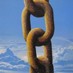 Chaîne, peinture de Michel Oury