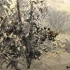 Forêt enneigée peinture Simon C