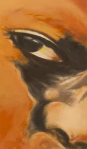 Regard, peinture de Blandine Titeux