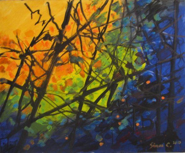 Ramures Feuillages peinture Simon C.