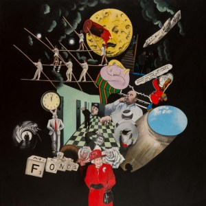 Oeuvre Moon 2 Lopès-Curval Galerie des Tuiliers