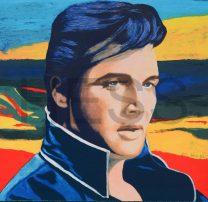 James Francis Gill, Elvis, Serigrafie auf Büttenpapier, Aufl. /100 + 10 EA + 5 PP, 64 x 61 cm