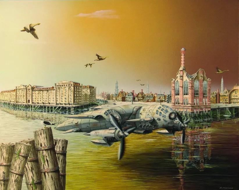 In London - Exposition Entre Temps peinture THIERRY VAN QUICKENBORNE