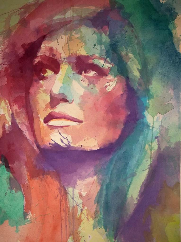 Exposition Dalida, Rencontre avec une étoile, Javier Navarro Avilès, aquarelle