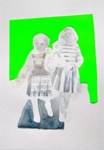 Breath in the air, 2017 - Aquarelle, crayon de papier, papier calque, papier fluo 30x40