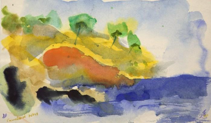 Cavalaire - en bas de la crique - Alain Husson Dumoutier - 1997