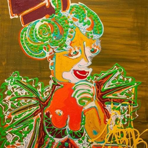 La grand mère paternelle - 2018 - 100 x 80 cm -Acrylique sur toile - 3000€