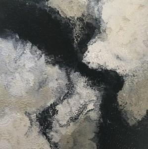 Carole Jury LET'S GET HIGH Series Peinture à l'huile 100 cm x 100 cm