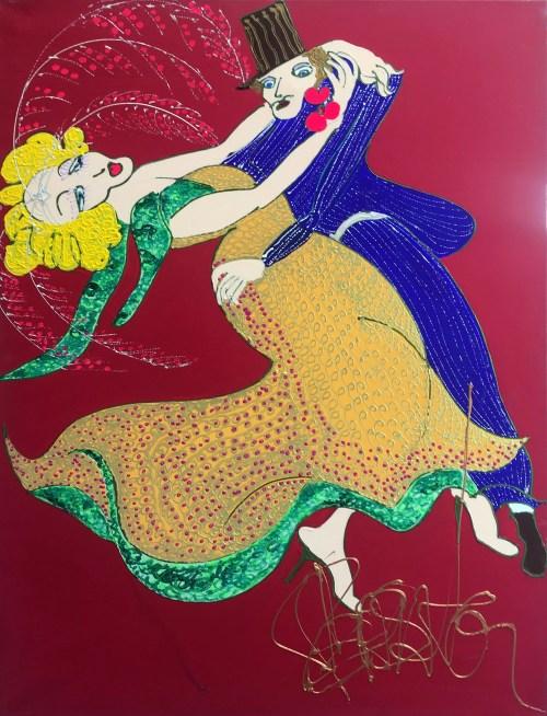 Le galo Isa Sator 130 x 90 Acrylique sur toile