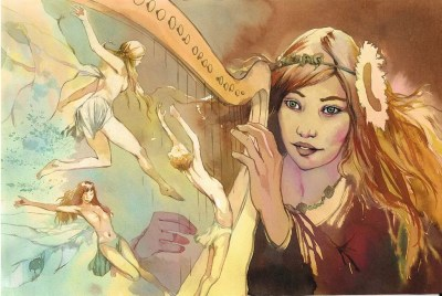 Moyen age - La Harpe Enchantée - Vincent Pompetti