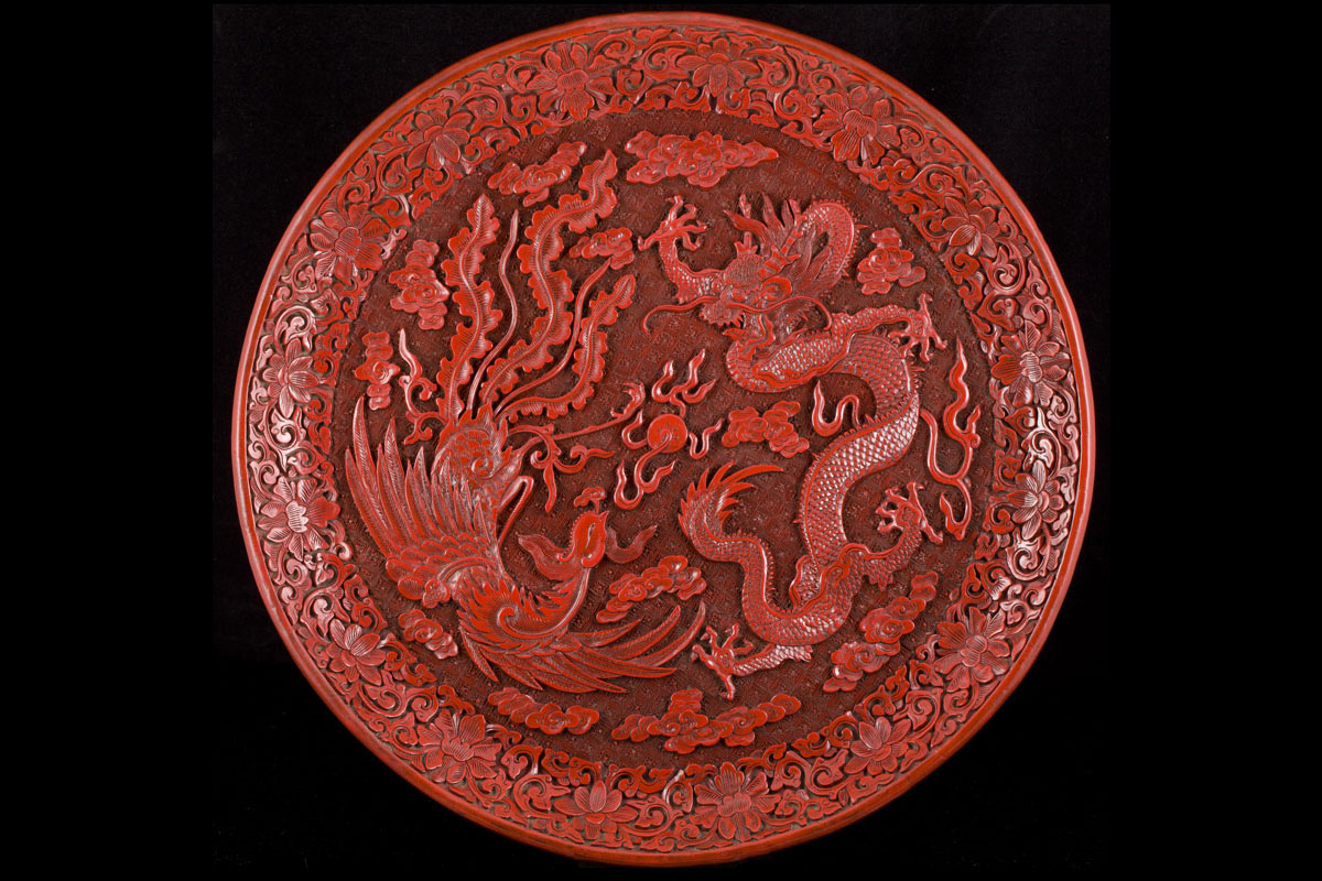 Antique Chinese lacquer Ming and Qing dynasties