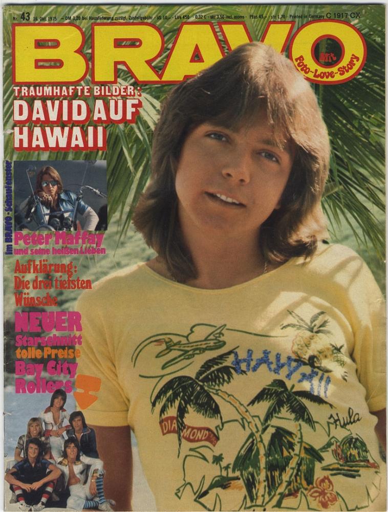 bravo 1975 nr 43 mit poster david cassidy peter maffey bay city rollers jugendzeitschrift