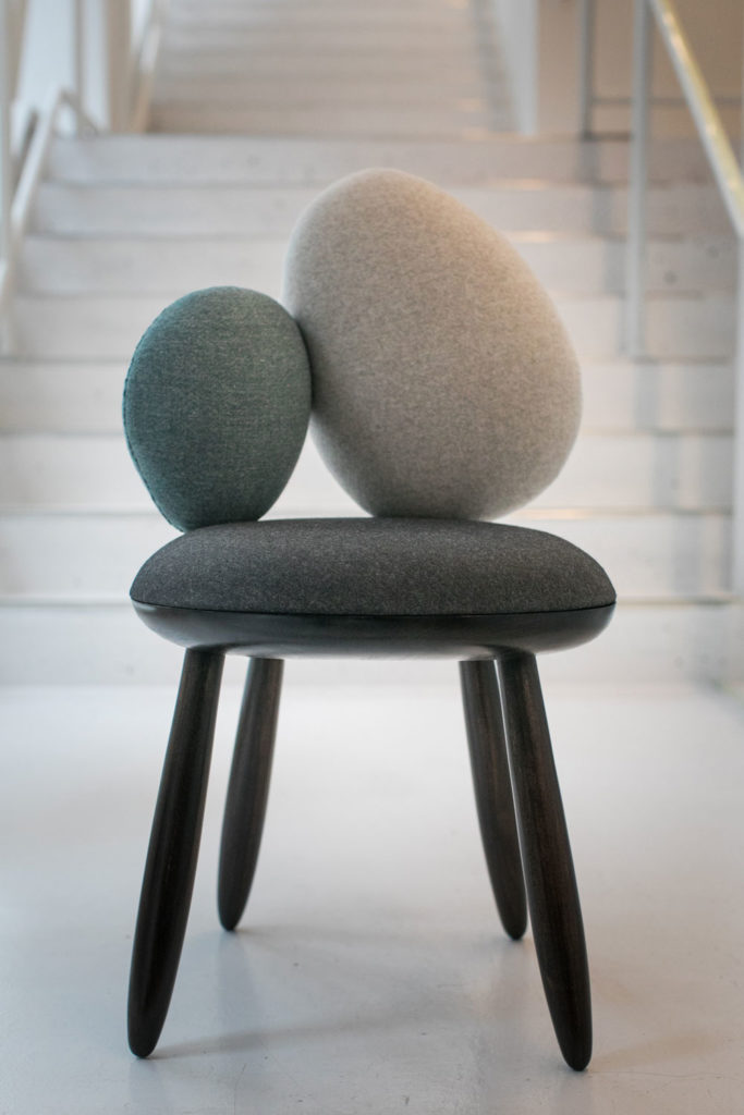 chair design program that makes into twin bed parsons students create dazzling chairs for roche bobois the cairn stone designed by weiran chen and george plionis of s mfa industrial photo courtesy school