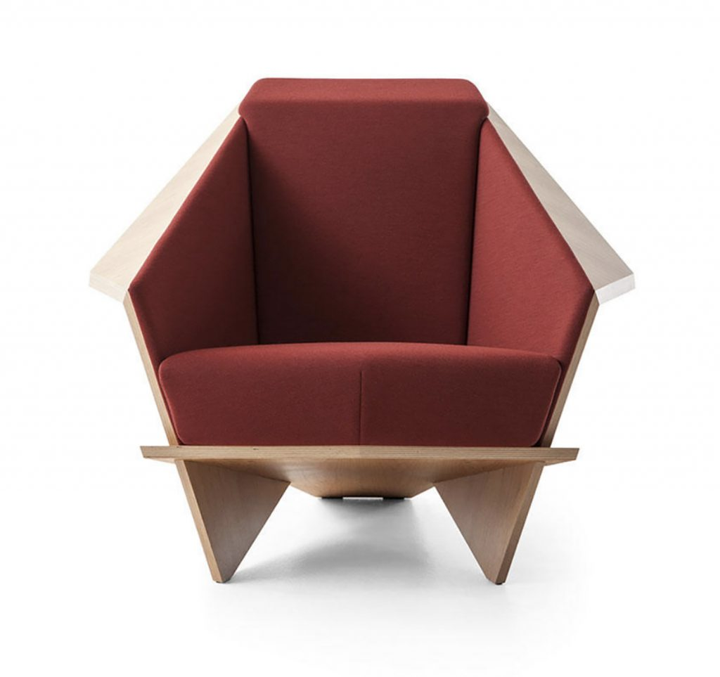 frank lloyd wright chairs office chair high s own custom designed is back in production the made from a single piece of folded plywood photo cassina