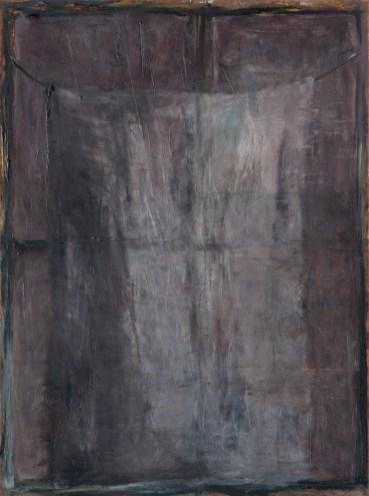 Fenêtre et rideau à la tache bleue - 2011/46