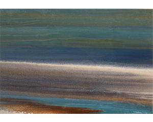 Greve 5, 2017. Acrylique sur toile, 38 cm x 55 cm.