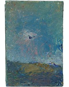 Oiseau III, 2017. Huile sur toile, 33x22cm.