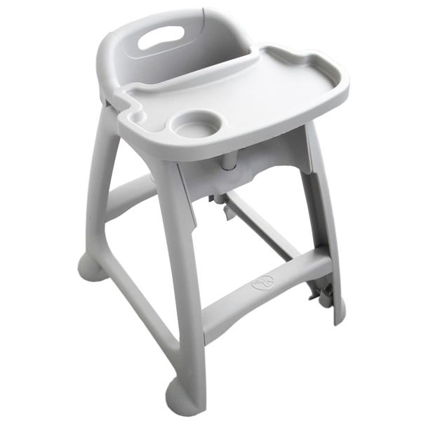 Sturdy Plastic Grey High Chair  AF12601A  Galgorm Group