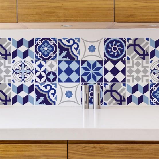 stickers carreau bleu azulejos