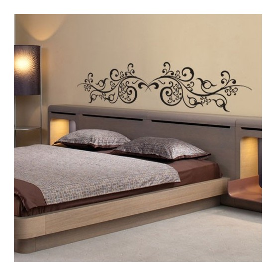 stickers tete de lit arabesques orientales