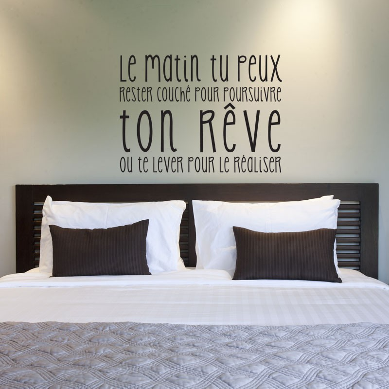 Sticker Citation Ralise ton rve  Stickers muraux texte positif  GALIARTcom