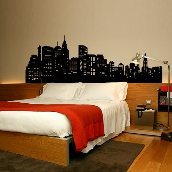 Sticker New York Tte de Lit  Dcoration Chambre New York  GALIARTcom