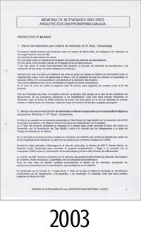 2003_ASFEG_Memoria de actividades