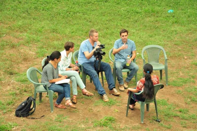 Visita de Save The Children y el making-of de su documental