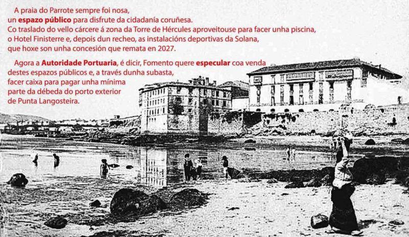 Recollida de firmas contra a privatización da Solana, Hotel Finisterre